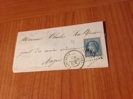 LAMBALLE  ( Cotes Du Nord) - GC 1930-  Lettre Non Ecrite 1870  (port à Ma Charge ) - 1849-1876: Klassieke Periode