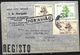 713 - PORTUGAL - ANGOLA - 1947- AIR MAIL - COVER - FAUX, FORGERy, FALSE, FALSCH, FAKE, FALSO - Sellos