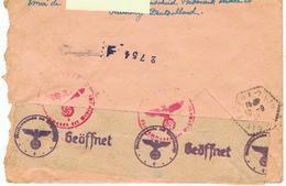 SUR ENVELOPPE DU 3-09-43(D'ALLEMAGNE POUR LA FRANCE),CACHETS DIVERS AVEC BANDE DE LA CENSURE- - Duitsland