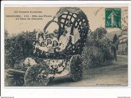 BEAULIEU : Fete Des Fleurs, Le Char Du Chardon - Tres Bon Etat - France