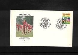 Denmark 1985 Gymnastics FDC - Gymnastik