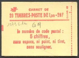 942) Carnet 1973 C1a Avec Chiffre De Nappe Conf. 8 -GM - Carnets