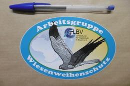 Autocollant - Arbeitsgruppe LBV Landesbund Für Vogelschutz In Bayern E. V. Wiesenweihenschutz - OISEAUX - Adesivi
