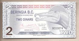 Beringia - Banconota Di Fantasia Non Circolata FDS Da 2 Dinari - 2012 - Non Classificati