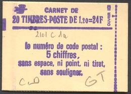 944) Carnet 2101 C1a Daté 5/5/80 Conf. 8 -GT - Markenheftchen