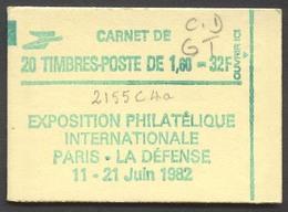 945) Carnet 2155 C4a Daté 15/9/81 Conf. 8 -GT - Markenheftchen