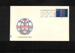 Schweiz / Switzerland 1969 Gymnastics - Turnfest Gymnaestrada Basel Interesting Cover - Gymnastik