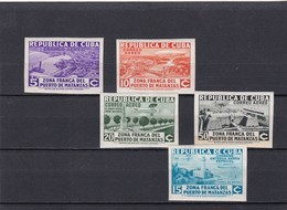 Cuba Nº A17B Al A21B Con Charnela - Airmail