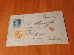 SIERENTZ  ( 66- Haut Rhin )-  GC 3406 - Indice 27,5 -   Lettre écrite -  ( Port à Ma Charge) - 1849-1876: Klassieke Periode