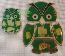 HIBOU CHOUETTE TABUR ELECTRICITE LEGRAND  DX ARMURAL ARMOIRE VISTOP Lot De 6 Pins En EPOXY AB - Animals