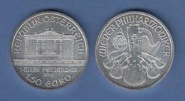 Österreich Silber-Unze WIENER PHILHARMONIKER 2010 Stgl. 31,10g Feinsilber 999 - Oesterreich