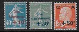 Caisse Amortissement N° 246 à 248 **  Cote : 70 € - Unused Stamps