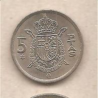 Spagna - Moneta Circolata Da 5 Pesetas - 1978 - [ 5] 1949-… : Regno