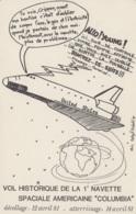 """Evènements - Sciences Astronomie Espace - Vol Historique Navette """"Columbia"""" 1981 - Illustrateur Humour - Editeur ACBM - Evénements"""