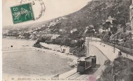 06  Beaulieu Sur Mer. Les Villas. Tram Sur La Route De Nice à Monte Carlo - Beaulieu-sur-Mer