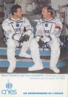 Evènements - Sciences Astronomie Espace - Astronautes Français - M. Tognini Et Jean-Pierre Haigneré - Mission Antarès - Evénements