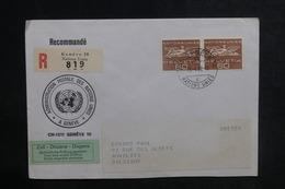 NATIONS UNIES - Enveloppe En Recommandé De Genève Pour La Belgique En 1968 - L 38722 - Cartas
