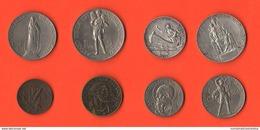 Vaticano Serie 8 Monete Date Diverse Composta Dai Papi  PIO XI° E PIO XII° Centesimi 5 10 20 50  Lire 1 2 5 10 - Vaticano