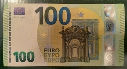 100 EURO S008B2 Italy Serie SD Ch 05 Draghi Perfect UNC - EURO