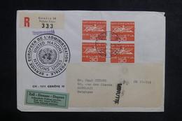 NATIONS UNIES - Enveloppe En Recommandé De Genève Pour La Belgique En 1967 - L 38723 - Cartas