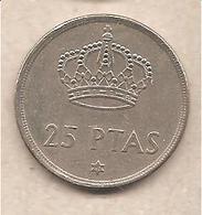 Spagna - Moneta Circolata Da 25 Pesetas - 1980 - [ 5] 1949-… : Regno