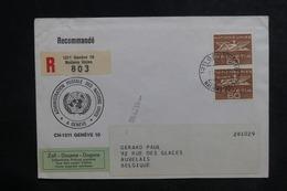 NATIONS UNIES - Enveloppe En Recommandé De Genève Pour La Belgique En 1968 - L 38724 - Cartas