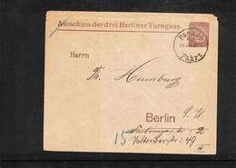 Germany / Deutschland 1889 Gymnastics - Ausschuss Der Drei Berliner Turngaue Interesting Cover Scarce - Gymnastik