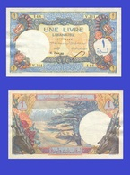 LEBANON  LIBAN 1 LIVRE 1945 - Líbano