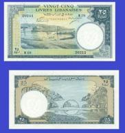 LEBANON  LIBAN 25   LIVRE 1952 - Liban