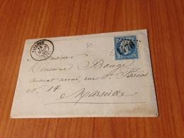 FAYENCE  ( 83- Var )  GC 1476 - Lettre écrite 1866 - ( Port à Ma Charge ) - Postmark Collection (Covers)