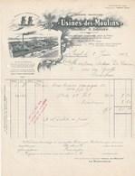 Gand Gent - Usines Des Moulins - Vinaigres De Vin  D'alcool Et De Grains - 5 Juin 1902 - Tres Bon état - Belgique