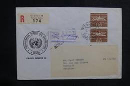 NATIONS UNIES - Enveloppe En Recommandé De Genève Pour La Belgique En 1968 - L 38727 - Cartas