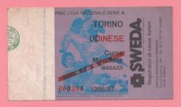Biglietto D'ingresso Stadio Torino Boavista 1991-92 - Toegangskaarten