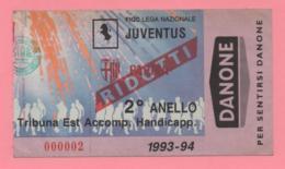 Biglietto D'ingresso Stadio JUVENTUS 1993-94 - Tickets - Vouchers