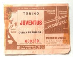 Biglietto D'ingresso Stadio Torino Juventus 1981-82 - Toegangskaarten