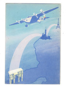 Cpm Illustration Avion I ROMA - ALA LITTORIA - Liaison Directe PARIS MARSEILLE ROME - - Flugzeuge
