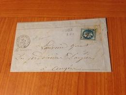 SAINT SULPICE LES FEUILLES ( 81- Haute Vienne )  -GC 3868-  Lettre écrite 1868  (port à Ma Charge ) - Postmark Collection (Covers)
