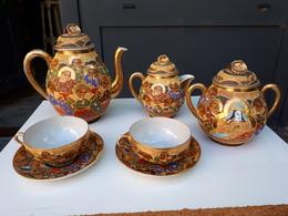 Magnifique Service à Thé Ancien Japonnais En Porcelaine  & - Autres