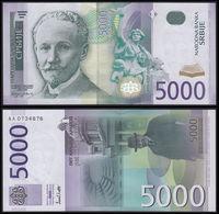 SERBIA - 5.000 Dinara 2003 {Narodna Banka Srbije} {sign. Mladjan Dinkić} UNC P.45 - Serbia
