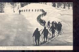 Italië Italy Italien - Plotone Di Skiatori Nelle Dolomiti - 1915  -La Guerra Italiana - Non Classificati