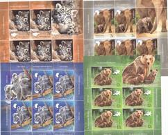 WILD CUBS;BEARS,LEOPARDBEARS KOALA,ELEPHANTS,MINISHEET 5 SET + LABELS,MNH(**) ROMANIA. - Elephants