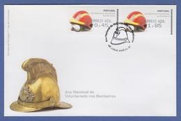 Portugal 2008 ATM Feuerwehr-Helm Amiel Mi.-Nr. 62.2e Satz AZUL 45-185 Auf FDC - ATM/Frama Labels