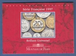 Frankreich Offizieller Kursmünzensatz 1997 Im Folder Monnaie De Paris - Selten ! - Ohne Zuordnung