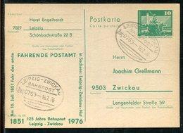 DDR / 1976 / Postkarte Mit Privatem Zudruck, Bahnpost-Stempel LEIPZIG-ZWICKAU (23234) - DDR