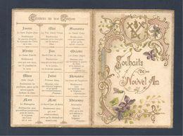 Image Pieuse Souhaits De Nouvel An   4 Pages Editeur Edan & Rodhain - Images Religieuses