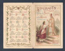 Image Pieuse Souhaits De Nouvel An   4 Pages France - Pape Et Diable    Editeur D. SAUDINOS-RITOURET - Imágenes Religiosas