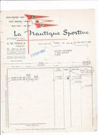 75-La Nautique Sportive...Matelas, Bateaux Pneumatiques, Kayaks Pliants....Paris  XIX ème..1958 - Sport En Toerisme