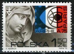 POLOGNE 2206** 1z50 Sépia, Rouge Et Bleu Arphila 75 Exposition Philatélique Internationale à Paris - 1944-.... République