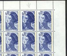 964) N°2240 En Feuille De 100 Dont N°2240a Double Frappe - Feuilles Complètes