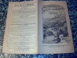 PUBLICITÈ Depliant  Chemins De Fer Paris Lyon Mediterranèe Saison Thermale 1930 URIAGE LES BAINS - Ferrocarril